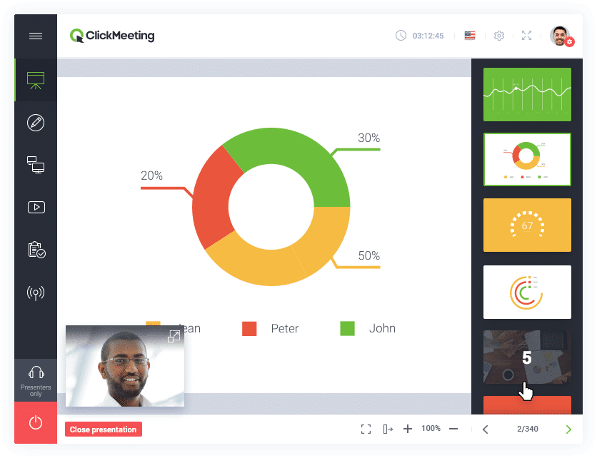 Clickmeeting software